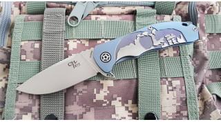 Ch 3504 Складной Нож S35VN синий
