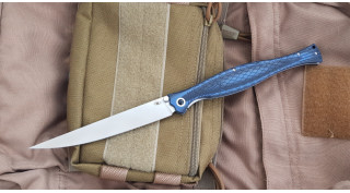 Нож Reptilian филейный складной Лаврак синий
