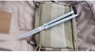 Нож бабочка Reptilian Плазма-05 титан-s35vn