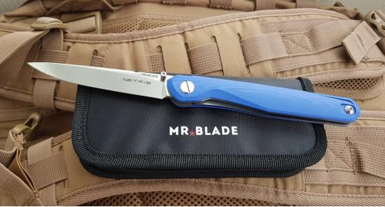 Нож Mr.Blade Astris (Сергей Шнуров) сталь D2 blue handle G10